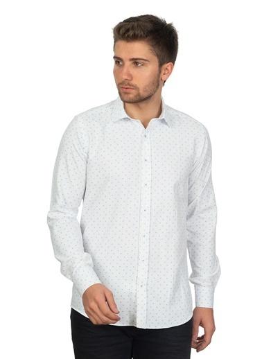 White Stone Salvaleón De Higüey Regular Fit Pamuklu Gömlek Desenli Renkli